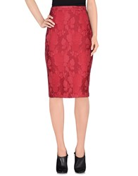Elisabetta Franchi Skirts Knee Length Skirts Women Fuchsia