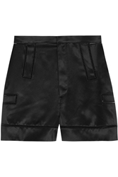 Givenchy Shorts With Cutout Detail In Black Silk Satin