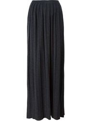 Woolrich Long Pleated Skirt Grey