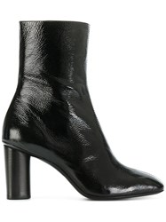 Barbara Bui Front Seam Ankle Boots Calf Leather Leather Patent Leather Black