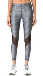 Terez Varsity Mesh Heathered Leggings Heathered Grey
