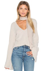 Free People Starman V Pullover Top Ivory