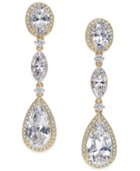 Danori Gold Tone Cubic Zirconia Triple Drop Earrings Only At Macy's