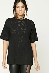 Forever 21 Pretty In Punk Graphic Tee Black Black