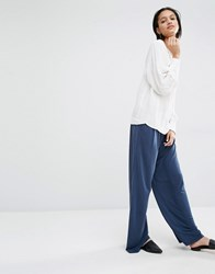 Just Female Cosmo Wide Leg Trousers Blue