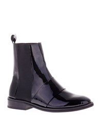 Sol Sana Fey Leather And Patent Leather Chelsea Boots Black