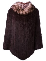 Twin Set Two Tone Cape Pink And Purple