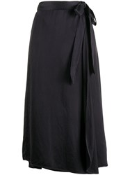 Forte Forte Wrap Midi Skirt Black