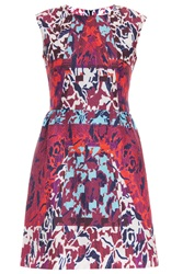 Peter Pilotto Tri Printed S L Waffle Dress