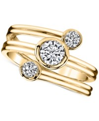Sirena Energy Diamond Three Row Ring 1 2 Ct. T.W. In 14K Gold Yellow Gold