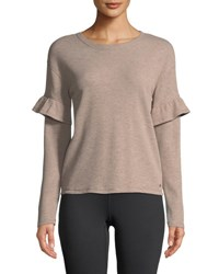 Marc New York Ruffle Sleeve Thermal Tee Gray