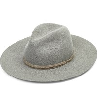 Rag And Bone Wool And Leather Wide Brim Hat Oxford Grey