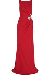 Raoul Freesia Embellished Crepe Gown Claret