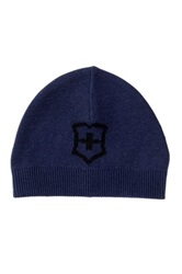 Victorinox Cross And Shield Intarsia Hat Blue