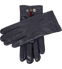 Dents Burford Cashmere Lined Leather Gloves Navy