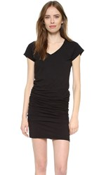 Sundry V Neck Short Sleeve Dress Black