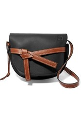 Loewe Gate Small Textured Leather Shoulder Bag Black