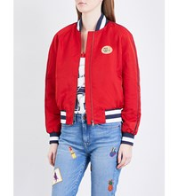 Tommy Hilfiger Gigi Hadid Bomber Jacket Apple Red