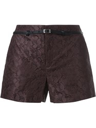 Loveless Lace Shorts Brown