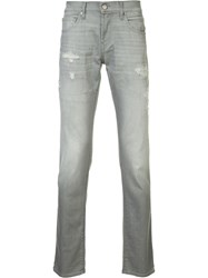 J Brand Ripped Detail Slim Fit Jeans Grey