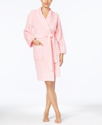 Charter Club Short Heather Wrap Robe Created For Macy's Pretty Pink