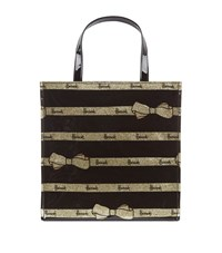 Harrods Small Gold Bow Tie Gusset Bag Unisex