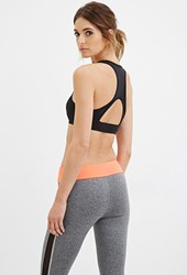 Forever 21 High Impact Cutout Racerback Sports Bra Black