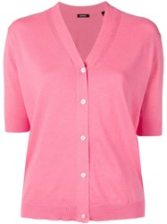 Aspesi Short Sleeve Cardigan Pink