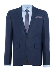 Kenneth Cole Men's Hector Sb2 Textured Suit Jacket Blue