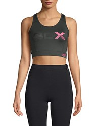 Superdry Cross Sports Bra Carbon