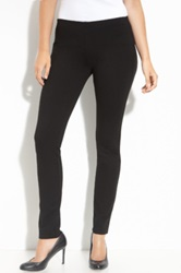 Eileen Fisher Skinny Ponte Knit Pants Black