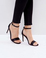 Call It Spring Ahlberg Satin Barely There Heeled Sandals Black