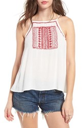 Band Of Gypsies Women's Embroidered Flyaway Camisole