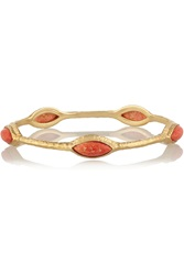 Isharya Nile Nymph Gold Tone Cabochon Bangle