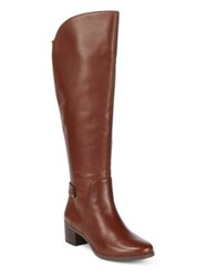 Anne Klein Jelaw Knee High Wide Calf Leather Boots Black