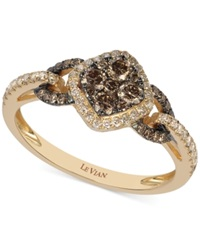 Le Vian Chocolate And White Diamond Ring In 14K Rose Gold 5 8 Ct. T.W.