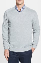 Cutter And Buck Men's Big Tall 'Broadview' V Neck Sweater Athletic Grey Heather
