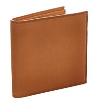 Ralph Lauren Grain Leather Foldable Card Holder Unisex Brown