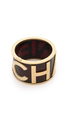 Wgaca Chanel Lucite Bangle Bracelet Previously Owned Gold