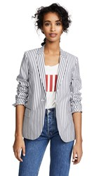 Paul Smith Striped Blazer Grey White
