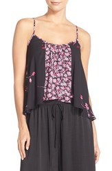 Women's Band Of Gypsies Print High Low Camisole