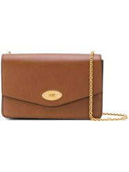 Mulberry Flip Lock Shoulder Bag Brown