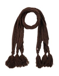 Duck Farm Accessories Oblong Scarves Women Dark Brown