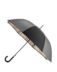 Burberry Regent Walking Umbrella Black Camel