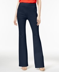 Inc International Concepts Curvy Fit Flare Leg Trousers Only At Macy's Deep Twilight
