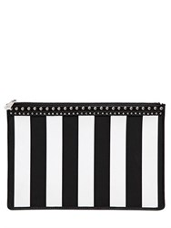 Givenchy Striped Coated Canvas Pouch With Studs