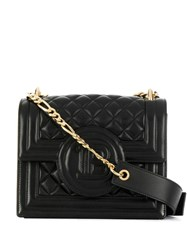 Balmain Quilted Shoulder Bag Black