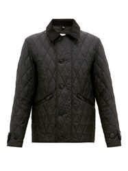 Burberry Spread Collar Quilted Field Jacket Black