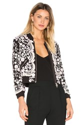 Needle And Thread Prairie Embroidery Bomber Black And White