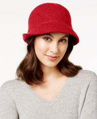 August Hats Melton Love Asymmetrical Cloche Red